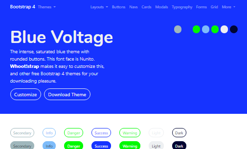 Bootstrap Themes Guide template